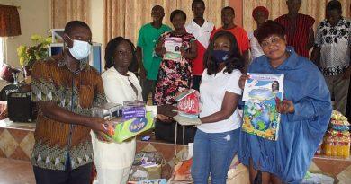Doreen Andoh Book Farm, Opoku Gakpo Foundation donate to schools in Ajumako Ba