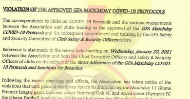 Hearts of Oak banned from stadium for flouting COVID-19 protocols