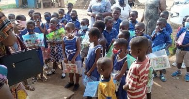 'My First Day At School' marked in Tano South
