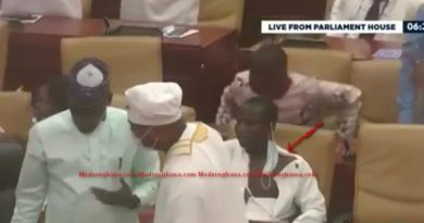 Parliament Fisticuffs: NDC MP Oti Bless 'fights' till dress torn, went home naked [Photos & Video]