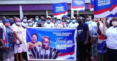 Reappointment of Frema Opare: Kumasi Tradersgather to appreciateAkufo-Addo