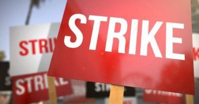 Senior staff members of UHAS join nationwide strike