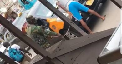 Soldier lashes Taxi driver for not wearing face mask