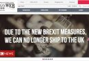 Some online stores stop UK deliveries over Brexit