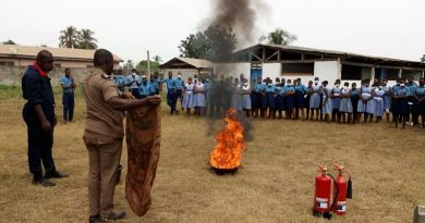 Akatsi South: Ghana Fire Service holds fire fighting training for students