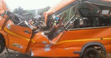 Akim Oda: Kia truck crashes into school bus, 3 in critical condition