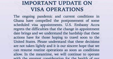 Covid-19: U.S Embassy in Ghana postpones scheduled visa appointments