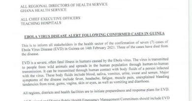 Ebola is Back: GHS warns of possible outbreak in Ghana