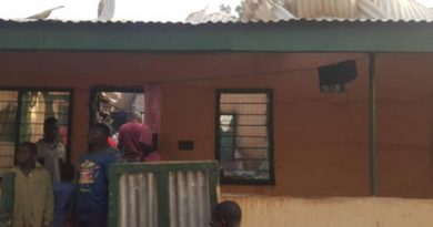 Fire ravages Yendi Church of Christ Health centre bungalow
