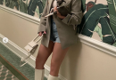 Kylie Jenner Dressed Up in Short Shorts and High Boots for a Lunch Date With Her New Puppy