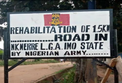 Nigerian Army Undertakes 1.5km Road Project In Orlu To Weaken ESN – SaharaReporters.com