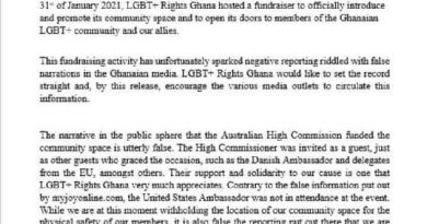 We won't disclose our location – LGBT+ Rights Ghana