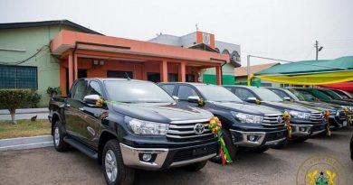 Akufo-Addo presents 40 vehicles to NADMO