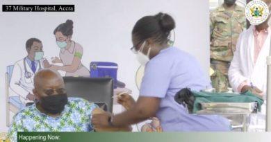 Akufo-Addo, wife take covid-19 jab at 37 Military Hospital