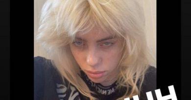 Billie Eilish Ditches Her Trademark Green Hair for Blonde