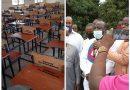 Hon Mathew Nyindam former MP for Kpandai donates furniture to Nkanchina Community Nursing Training