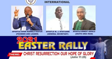 Pentecostal Ministry International sets 26th to 28th for this year's Easter Rally