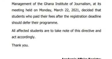 Students angry as GIJ orders them to defer academic year for paying fees late