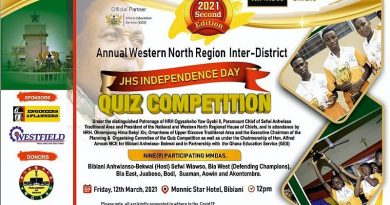 Western North: Kinross Chirano Gold Mines headlines Inter-District JHS Quiz competition