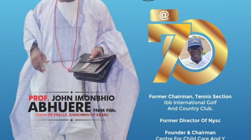 Celebrating Prof. John Abhuere @ 70 – Nigerian Observer