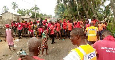 Keta: Salakope residents blocked road, demand construction of sea defense wall