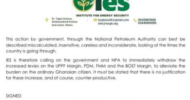 Withdraw nuisance and insensitive margins on petroleum products – IES to gov't