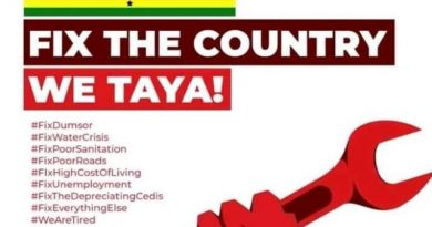 #FixTheCountry activists rubbish police ban