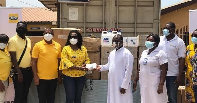 MTN Ghana Foundation supports St. Gregory Catholic Hospital with PPEs