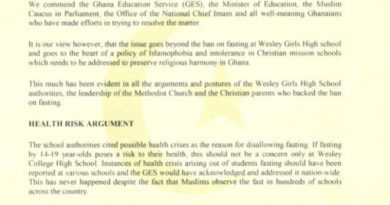 Wesley Girls' brouhaha: Ghana must choose togetherness over apartheid — Muslim Professionals warn