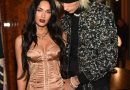 Megan Fox Stunned in a Nude Corset Dress With Machine Gun Kelly for Their Las Vegas Date Night