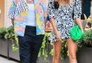 Hailey Bieber Wore a Floral Mini Dress to Clash Prints with Justin Bieber on Date Night